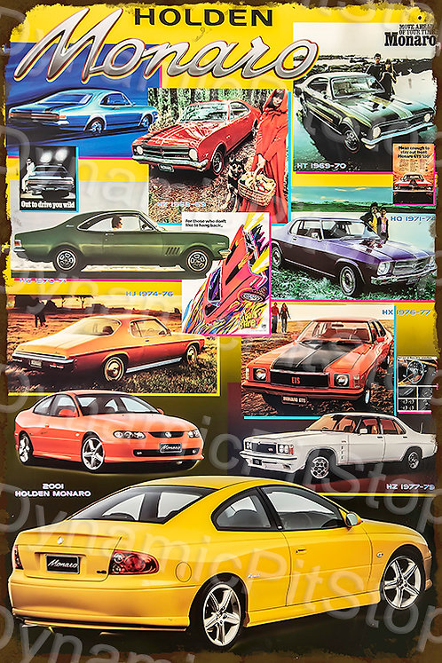 40x60cm Holden Monaro Collage Decal or Tin Sign