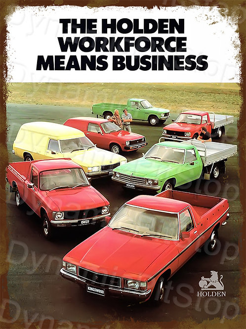 30x40cm Holden 1980 Utes & Vans Rustic Decal or Tin Sign