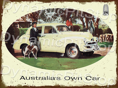 40x30cm Holden 1955 FJ Rustic Decal or Tin Sign