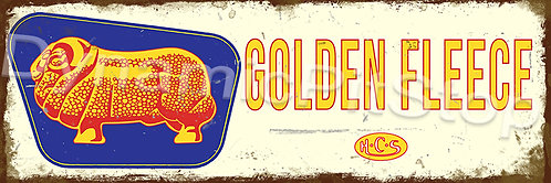 60x20cm Golden Fleece Logo Rustic Decal or Tin Sign