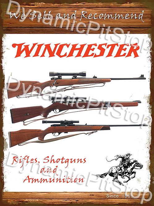 30x40cm Winchester Rifles & Shotguns Rustic Decal or Tin Sign