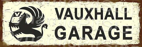 60x20cm Vauxhall Garage Rustic Decal or Tin Sign