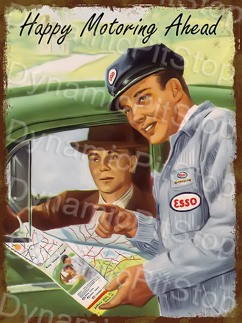 30x40cm Esso Happy Motoring Decal or Tin Sign