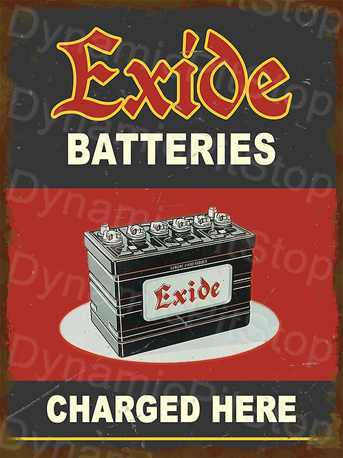 30x40cm Exide Batteries Rustic Decal or Tin Sign