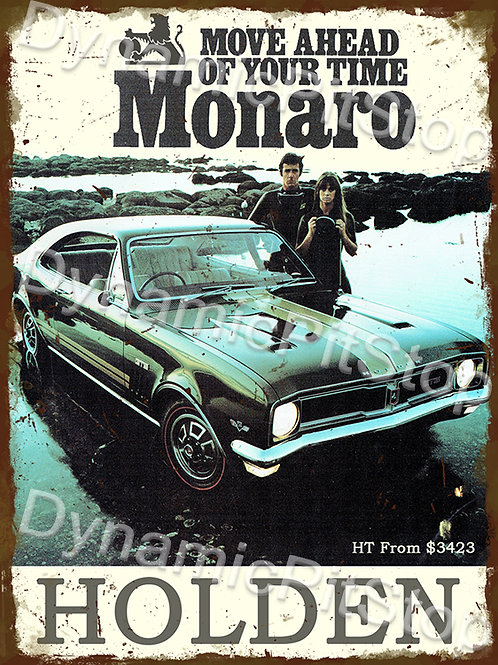 30x40cm Holden 1969 HT Monaro Rustic Decal or Tin Sign