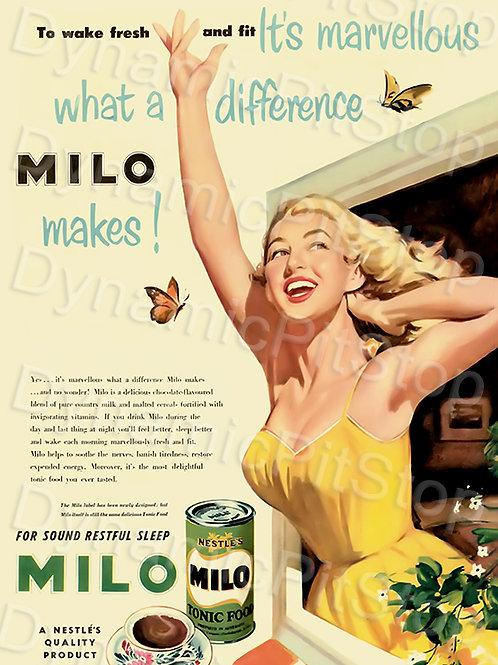 30x40cm Milo Ad Decal or Tin Sign