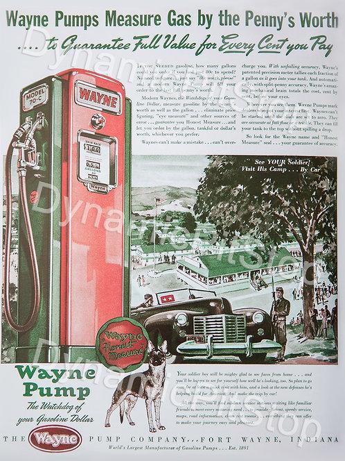 30x40cm Wayne Pump Vintage Ad Decal or Tin Sign