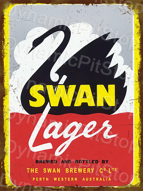 30x40cm Swan Lager Rustic Decal or Tin Sign