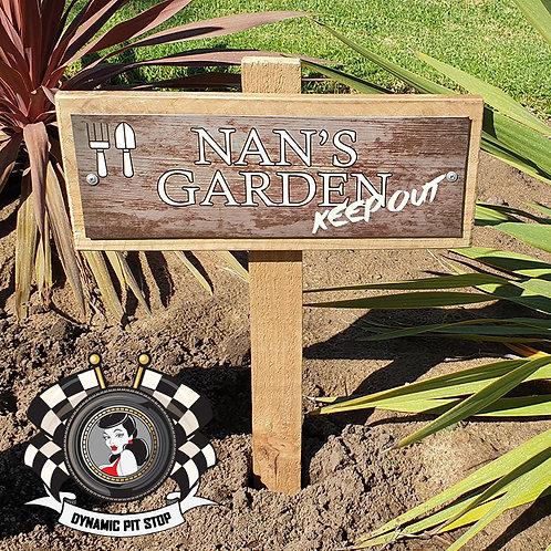 Nan's Garden Sign - Keep Out