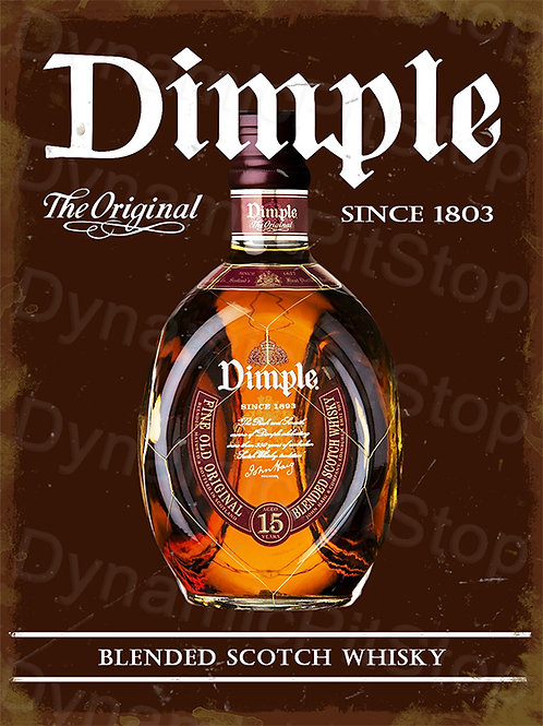 30x40cm Dimple Scotch Whiskey Rustic Decal or Tin Sign