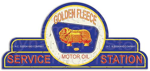 65x30cm Golden Fleece Service Station Shield Tin Sign