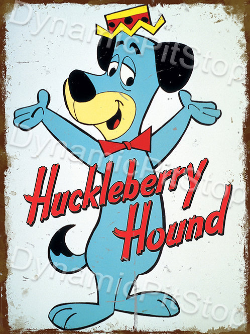 30x40cm Huckleberry Hound Rustic Decal or Tin Sign