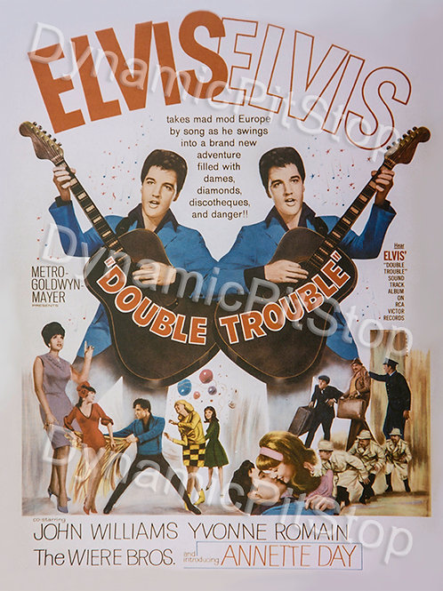 30x40cm Elvis Double Trouble Decal or Tin Sign