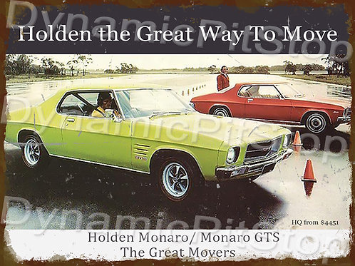 40x30cm Holden HQ Monaro Rustic Decal or Tin Sign
