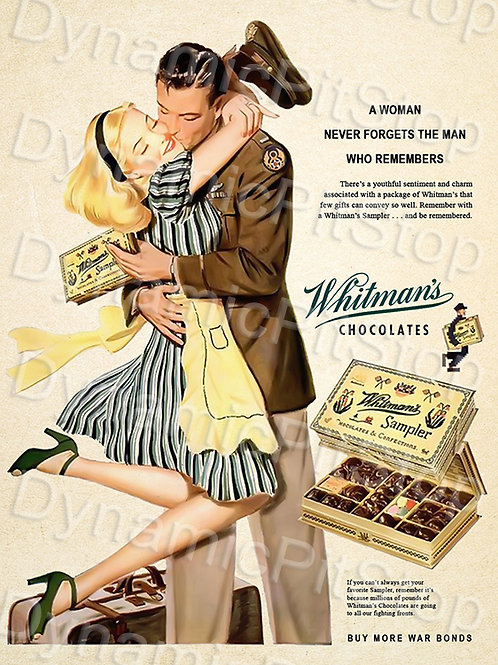 30x40cm Whitmans Chocolate Decal or Tin Sign
