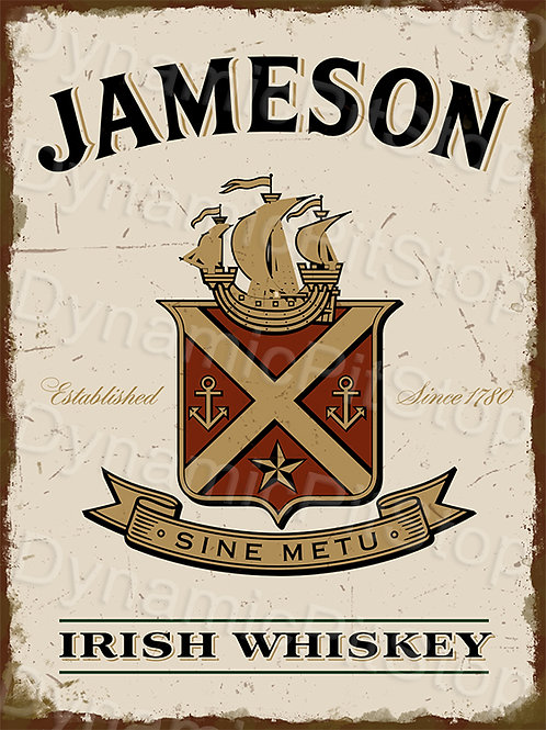 30x40cm Jameson Whiskey Rustic Decal or Tin Sign