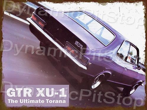 40x30cm Holden GTR XU1 Torana Rustic Decal or Tin Sign