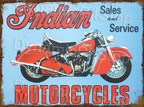 40x30cm Indian Motorcycles Rustic Decal or Tin Sign