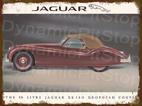 40x30cm Jaguar Drophead Coupe Rustic Decal or Tin Sign
