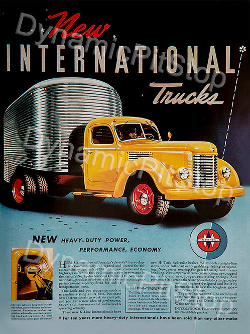 30x40cm New International Trucks Decal or Tin Sign