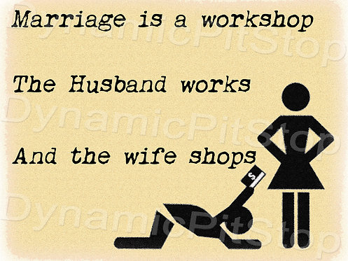 40x30cm Marriage Workshop Decal or Tin Sign