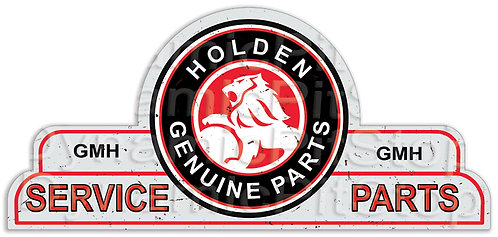 65x30cm Holden Service Parts Shield Tin Sign