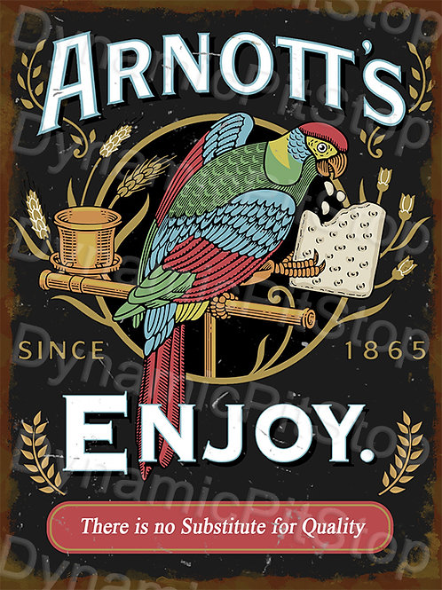 30x40cm Arnotts Biscuits Rustic Decal or Tin Sign