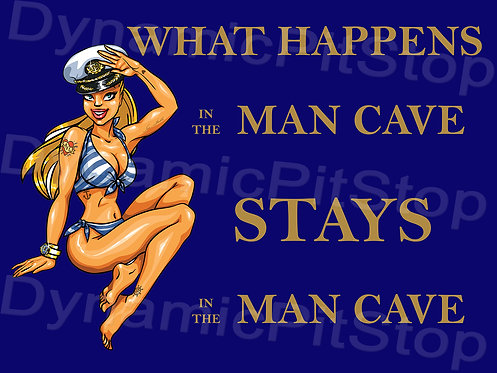 40x30cm What Happens In The Man Cave Decal or Tin Sign