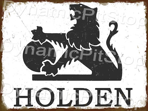 40x30cm Holden Logo Badge Rustic Decal or Tin Sign