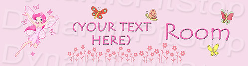 30x8cm Fairy Personalised / Custom Room Decal or Tin Sign