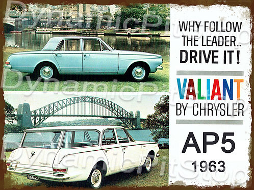 40x30cm Valiant 1963 AP5 Rustic Decal or Tin Sign