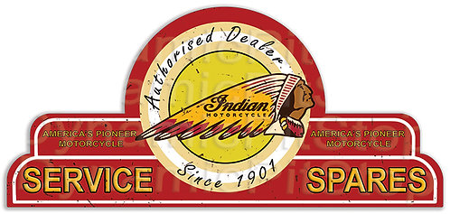 65x30cm Indian Service Spares Shield Tin Sign