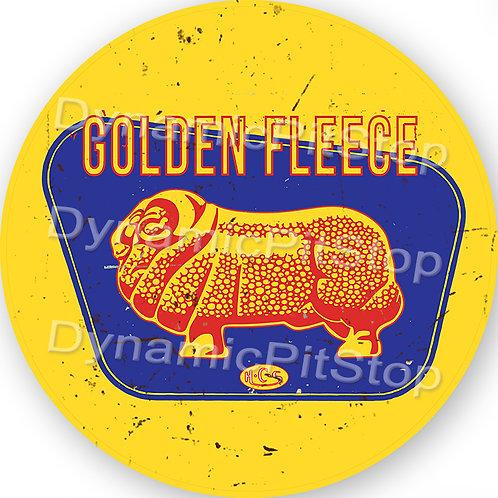 60cm Golden Fleece Logo Round Tin Sign