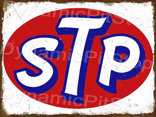 40x30cm STP Oil Logo Rustic Decal or Tin Sign