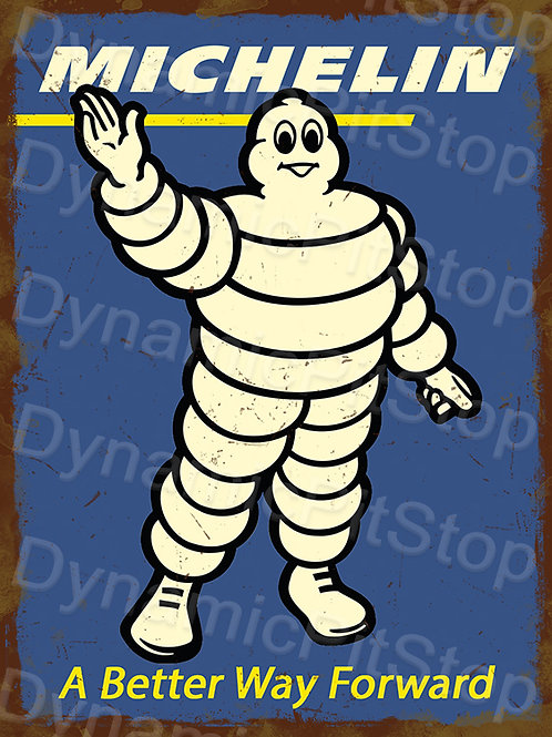 30x40cm Michelin Garage Rustic Decal or Tin Sign