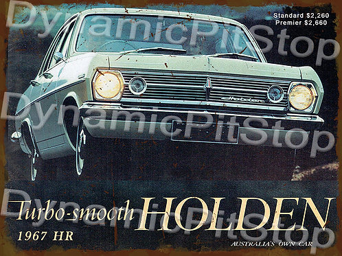 40x30cm Holden 1967 HR Rustic Decal or Tin Sign