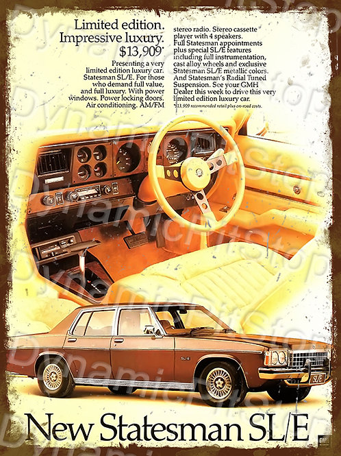 30x40cm Holden SLE Statesman Rustic Decal or Tin Sign
