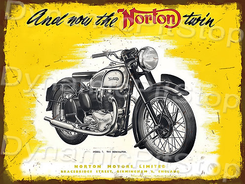 40x30cm Norton Motorcycle Rustic Decal or Tin Sign