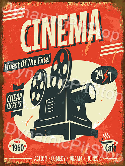 30x40cm Cinema Rustic Decal or Tin Sign