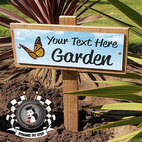 Custom Garden Sign - Butterfly