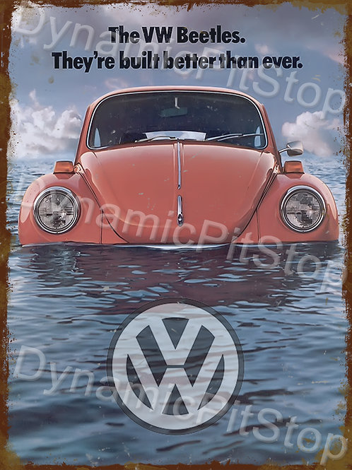 30x40cm Volkswagen VW Beetle Rustic Decal or Tin Sign