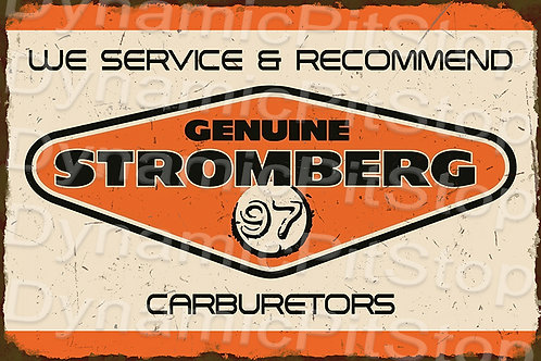 60x40cm Stromberg Rustic Decal or Tin Sign