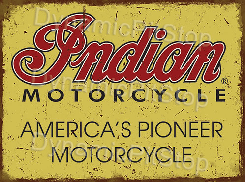 40x30cm Indian Motorcycle Rustic Decal or Tin Sign
