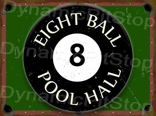 40x30cm Eight Ball Pool Hall Rustic Decal or Tin Sign