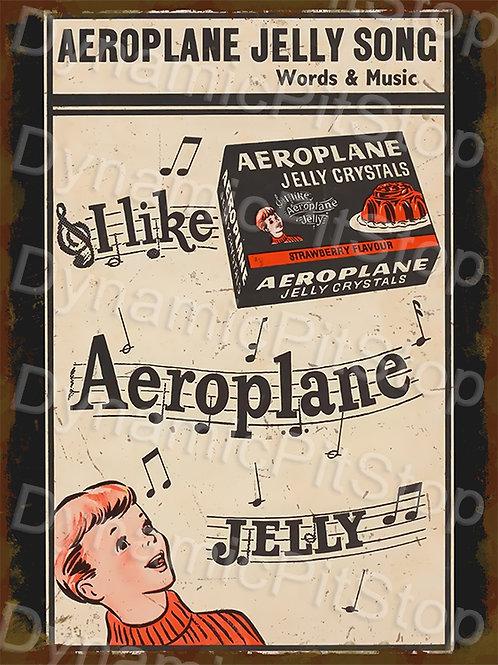 30x40cm Aeroplane Jelly Rustic Decal or Tin Sign