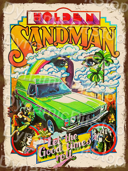 30x40cm Holden Sandman Poster Rustic Decal or Tin Sign