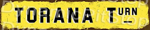 60x12cm Torana Turn Rustic Tin Street Sign