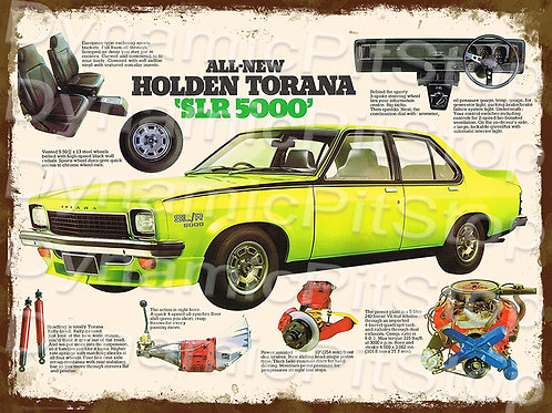 40x30cm Holden SLR 5000 Torana Rustic Decal or Tin Sign