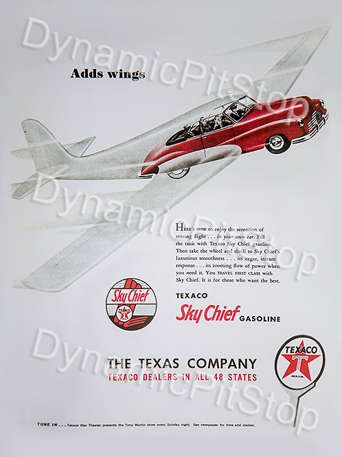 30x40cm Texaco Sky Chief Gasoline Decal or Tin Sign