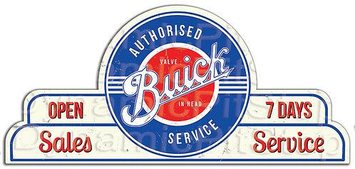 65x30cm Buick Sales Service Shield Tin Sign
